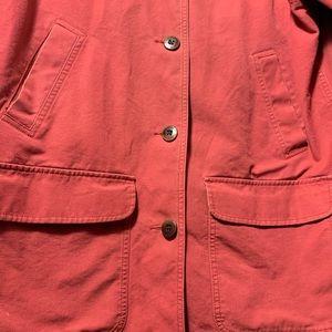 L.L. Bean Jackets & Coats - LLBEAN Womens Large Red Lined Barn Coat